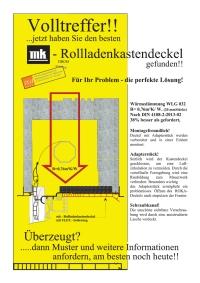 Rollladenkastendeckel