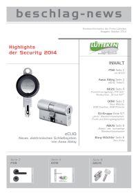 beschlag-news Oktober 2014