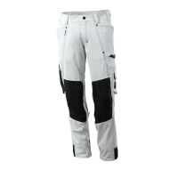 Mascot Advanced Bundhose | Ultimate Stretch - weiß - 82C66 | Knietaschen Cordura