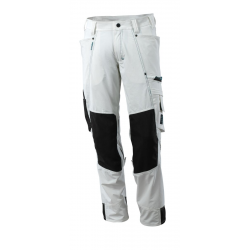 Mascot Advanced Bundhose | Ultimate Stretch - weiß - 82C58 | Knietaschen Cordura